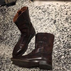 Frye duke roper boots, brown